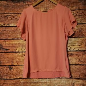 The Limited Butterfly Sleeve Pink Blouse